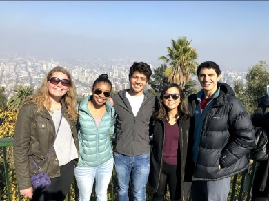 A group of MIT students in Santiago, Chile